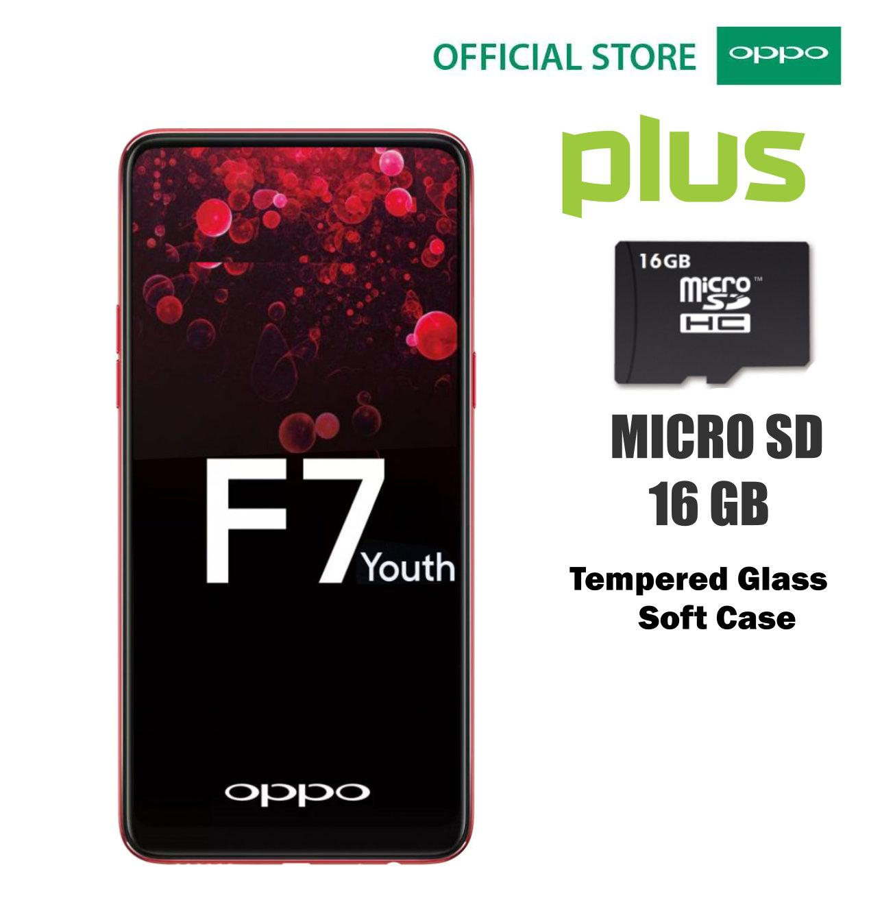 OPPO F7 YOUTH - Red Plus Micro SD V-Gen 16 GB