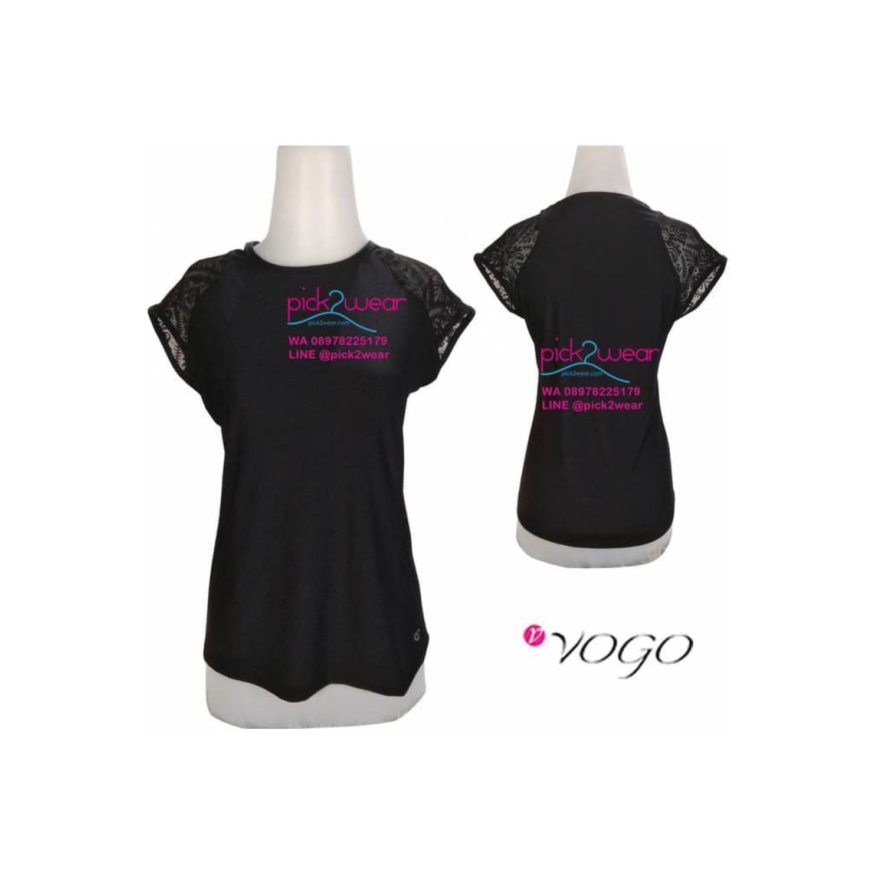 Jual Kaos Sport / Senam / Fitness / Zumba / Yoga Black Promo