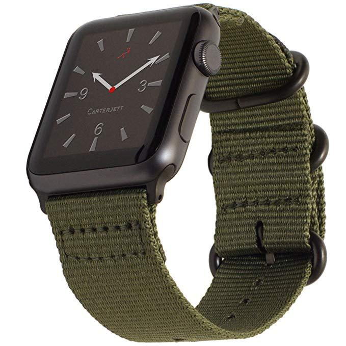 Tali Jam Apple Watch NATO Premium Woven Nylon Buckle Strap 42mm Series 1 2 3
