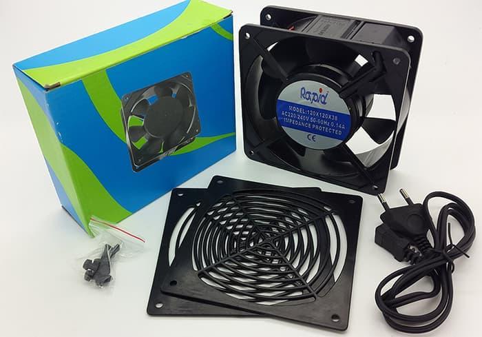 Terbaru!! Cooling Fan Ac 220V Ukuran 12 X 12 X 3.8 Cm - ready stock