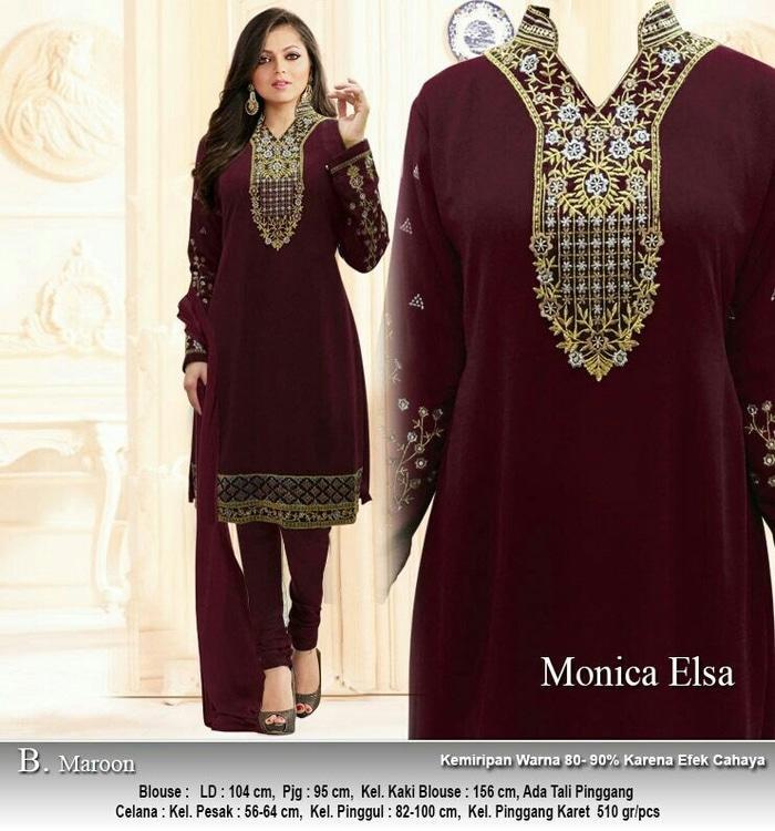 Kenzmal- Maxi Gamis Dress Baju Muslim Wanita Setelan Miniza Elsa Maron