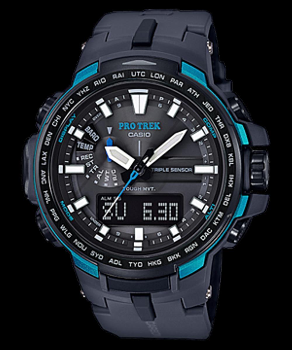Casio Protrek Original Prw-6100y-1a jam tangan pria triple sensor MMBKL