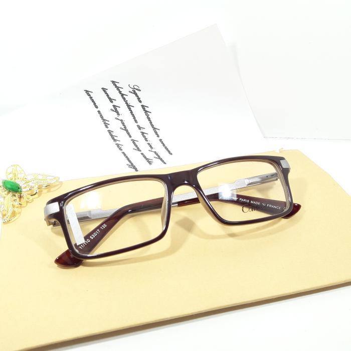 Harga Spesial!! Cartier 8861 Coklat Cream (Frame+Lensa) - ready stock