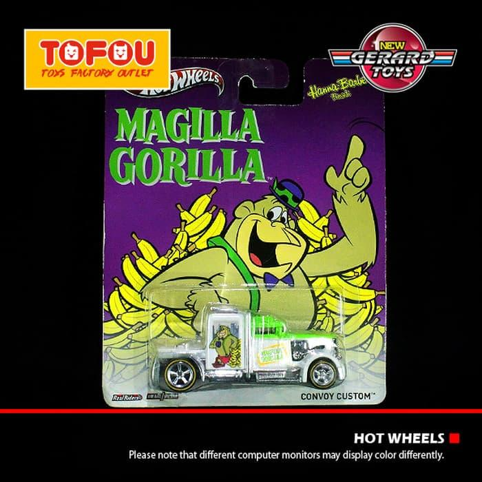 Sedang Diskon!! Convoy Custom - Hanna Barbera Magilla Gorilla - Hot Wheels - Mattel - - ready stock