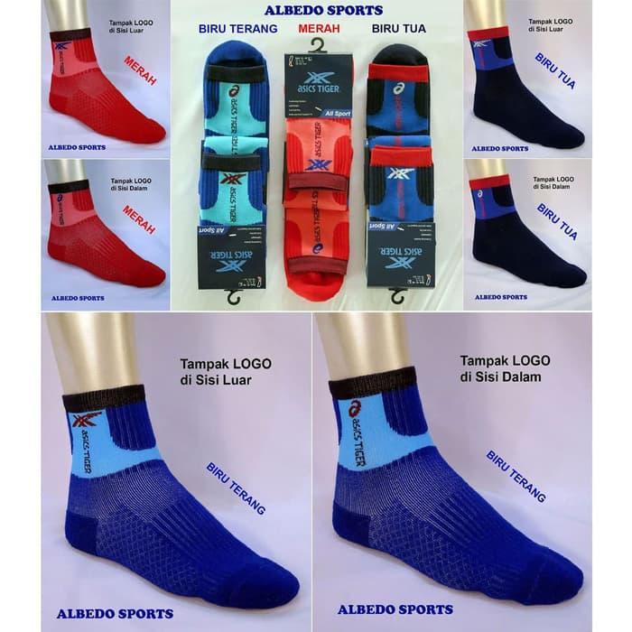 ASLI!!! Asics Tiger Kaos Kaki Olahraga Olah Raga Sport Pendek Converse Airwalk - 7noqLm