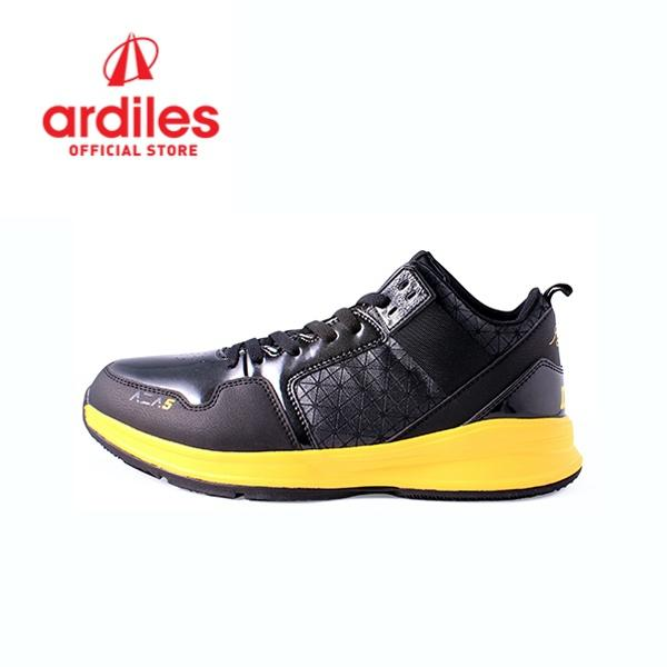 Ardiles Men Aza5 Basket Shoes - Black Yellow 1c5f737c49