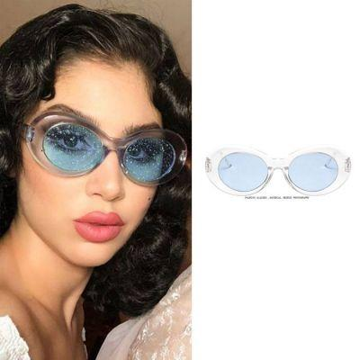 Kacamata Round Sunglasses Glitter Cross Border JU1225