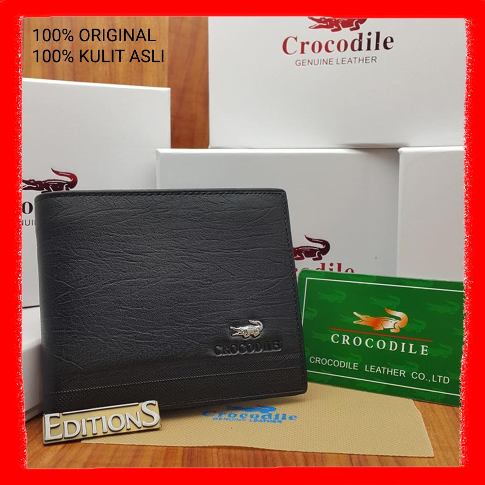 DOMPET KULIT ASLI IMPORT PRIA ED CROCODILE BLACK C1201-12 BRANDED  3e60bb7455