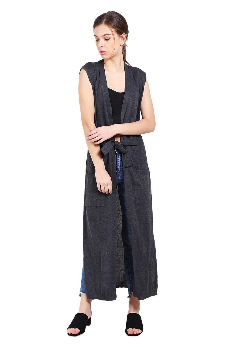 Buy Sell Cheapest Dk Sweater Basic Best Quality Product Deals Oblong Polos Hitam Peponi Maxi Vest Belted Cotton Cardigan Grey