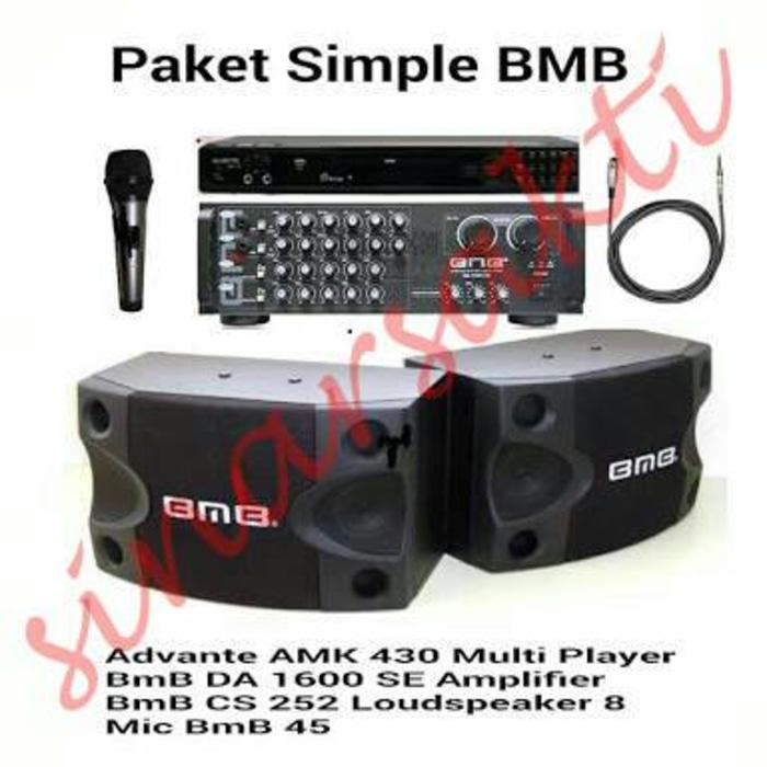 ORIGINALS Murah Paket Sound System BMB+DVD Player Karaoke Avante ( ORIGINALS )
