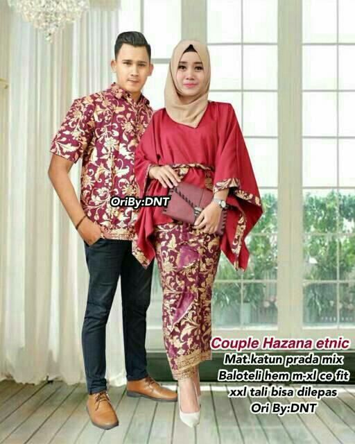 Baju Batik Couple   Baju Muslim Wanita Terbaru 2018   Gamis Wanita Terbaru    Batik Sarimbit fe4ba34057