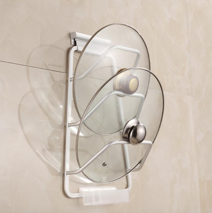385 Rak Dapur Tutup Panci Alumunium Dengan Wadah Tirisan Air