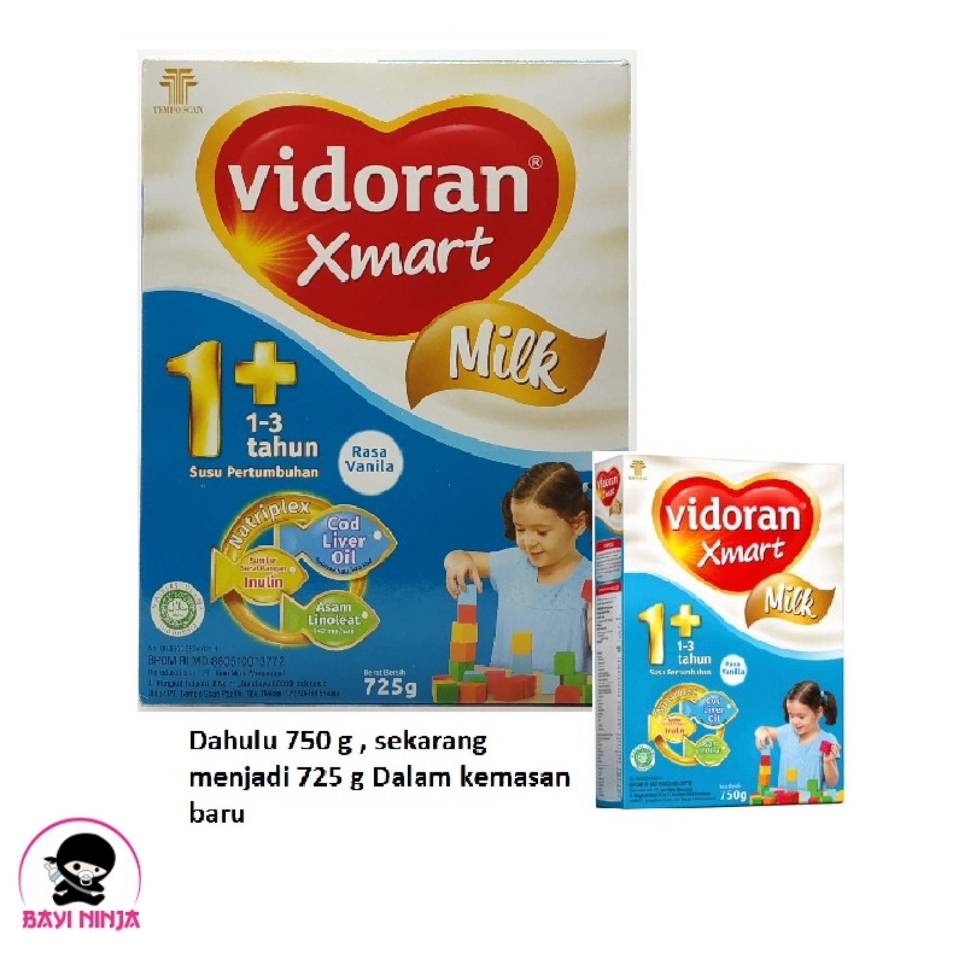 VIDORAN Xmart 1 + Vanila Susu Box 725g / 725 g