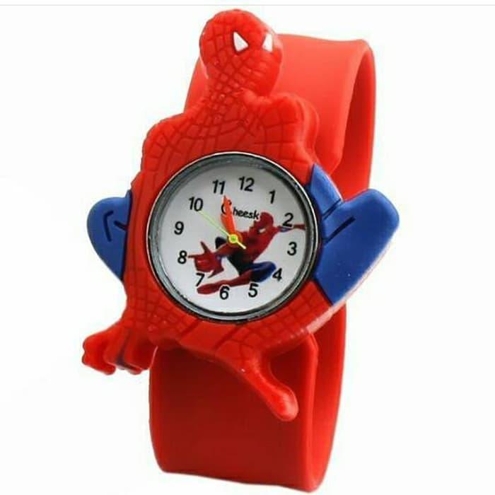 jam tangan anak spiderman / jtr 735 / jam tangan lucu anak / jam tangan anak laki-laki / jam tangan karakter