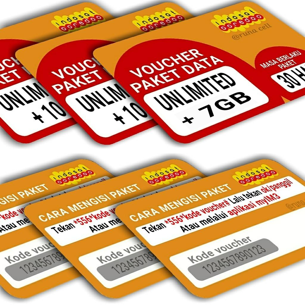 Voucher paket data indosat unlimited +7GB