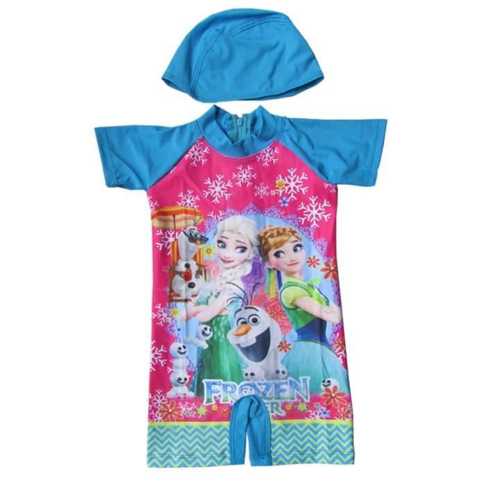 Baju Renang Bayi Karakter Frozen - K066 - Biru