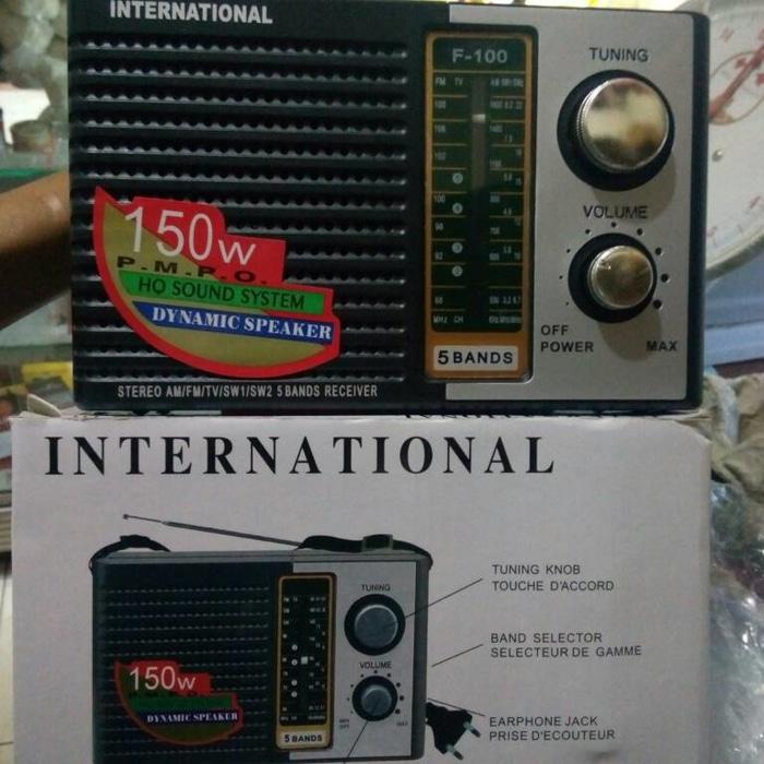 Referensi Radio International Jadul 3 Band AM-FM-SW model jadul speaker aktif / speaker laptop / speaker super bass