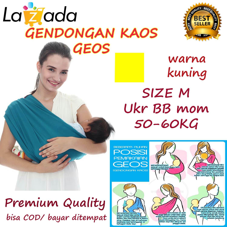 BABY CHERYL PREMIUM GENDONGAN Bayi Kaos/Geos/selendang Bayi Praktis Ukuran M - KUNING