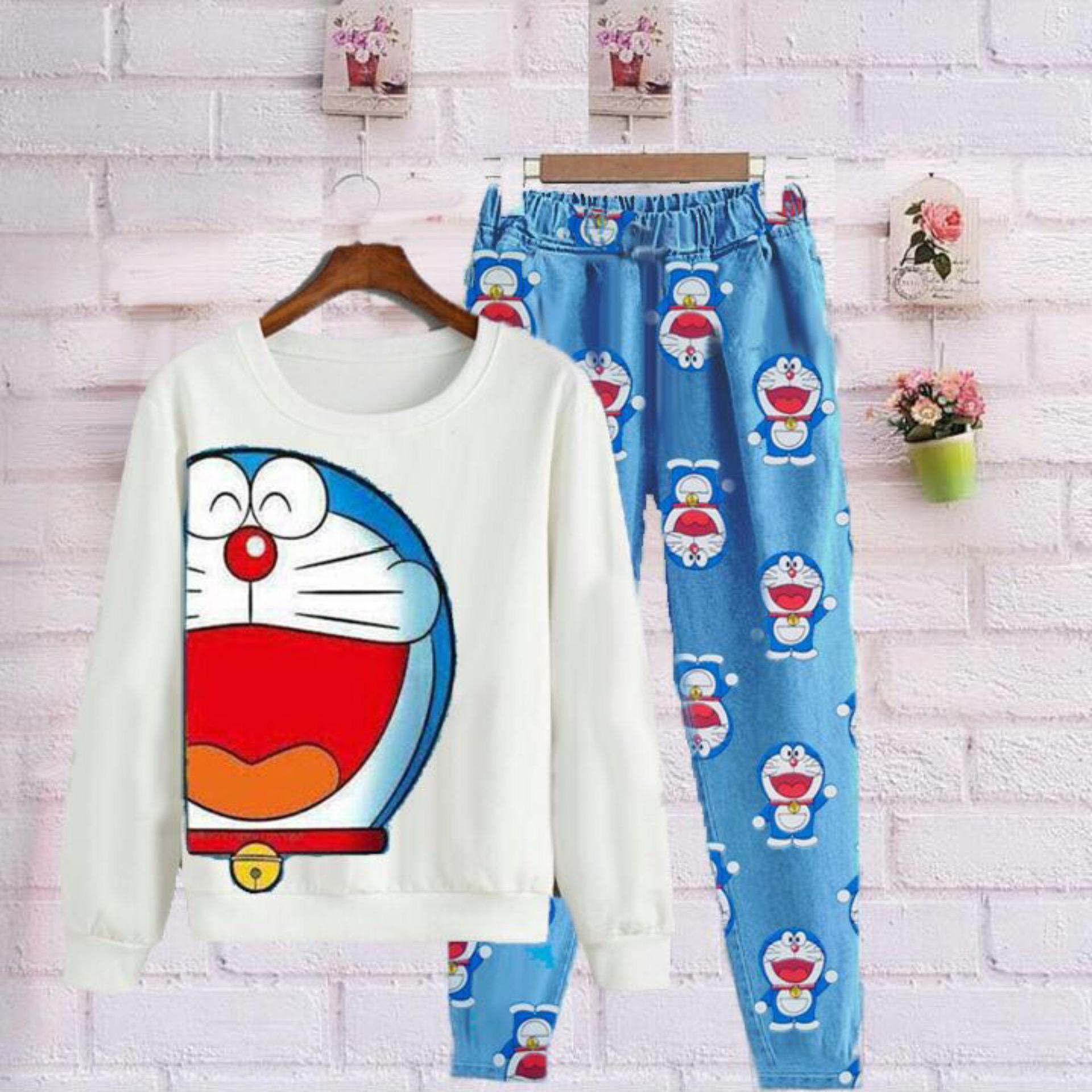 GA Fashion Setelan Dora Big Head / Baju Wanita / Blouse Korea / Atasan Wanita /
