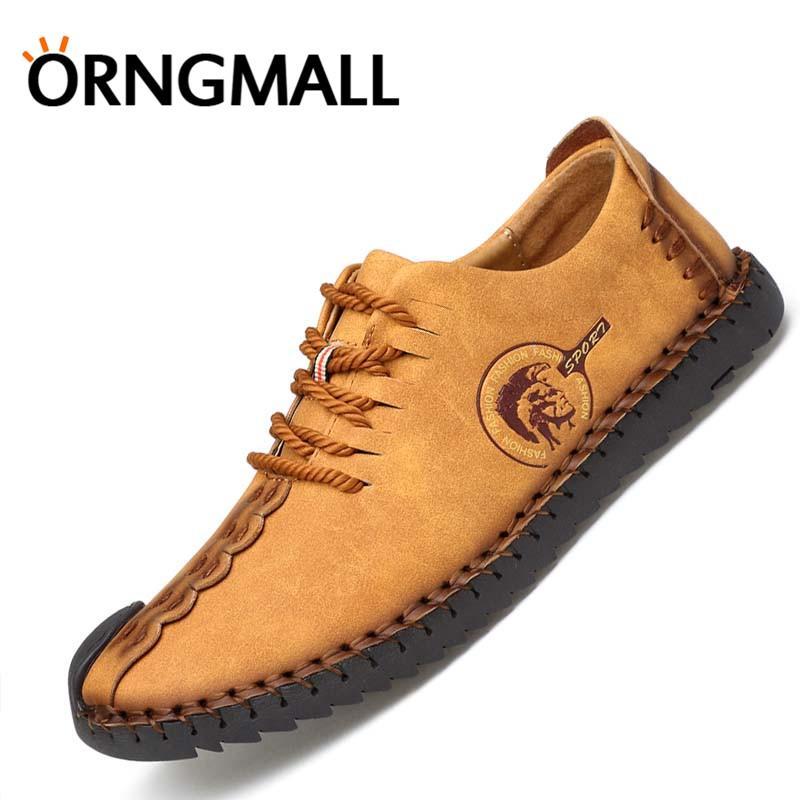 ORNGMALL Hot Sale Sepatu Handmade Italia Sepatu Kulit Casual Pria Sepatu  Formal Loafer Sepatu Flip Moccasin 8e6148baaa