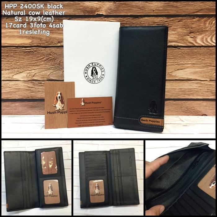 Diskon 10%!! Dompet Hush Puppies 2400Sk Black Replica Dompet Murah Dompet Kulit - ready stock