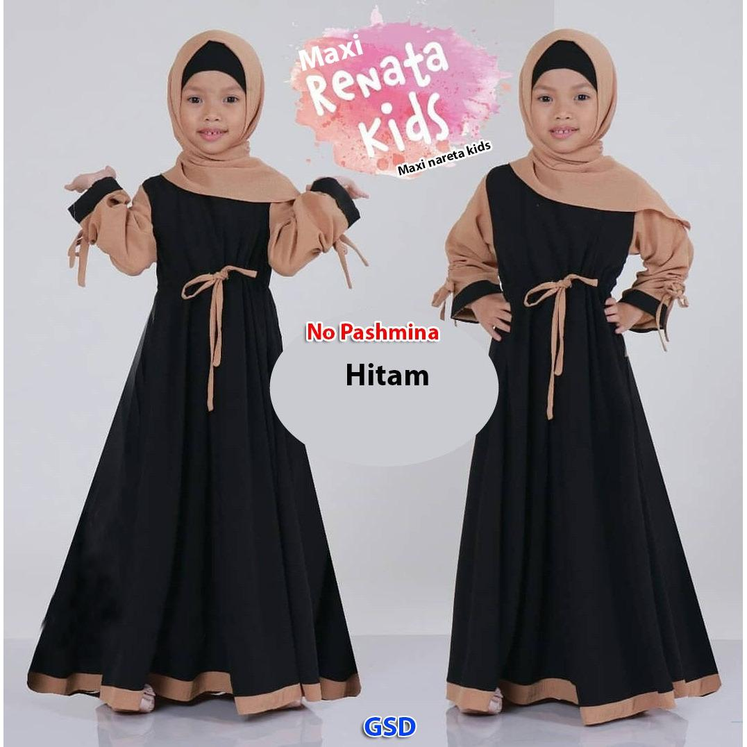 NCR-Baju Anak Cewek/ Baju Gamis Anak Cewek/ Baju Maxi Anak/ Longdress Anak Cewek/ Maxi Renata Kids/ Maxi Nareta kids