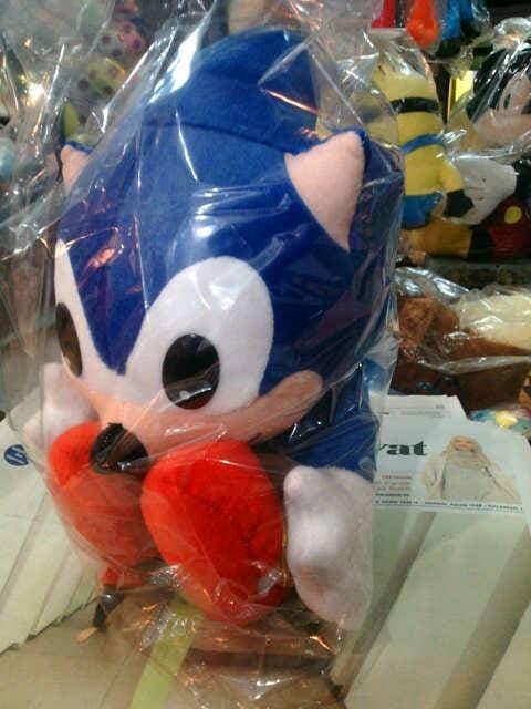 SALE - Boneka Sonic the Hedgehog maskot Sega tinggi 30 cm