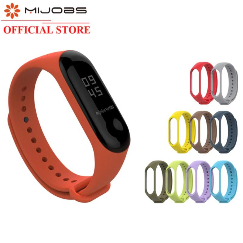 Mijobs Miband 3 Mijobs Silikon Strap Replacement Case Colorfull - Simple Version By Mijobs Indonesia.