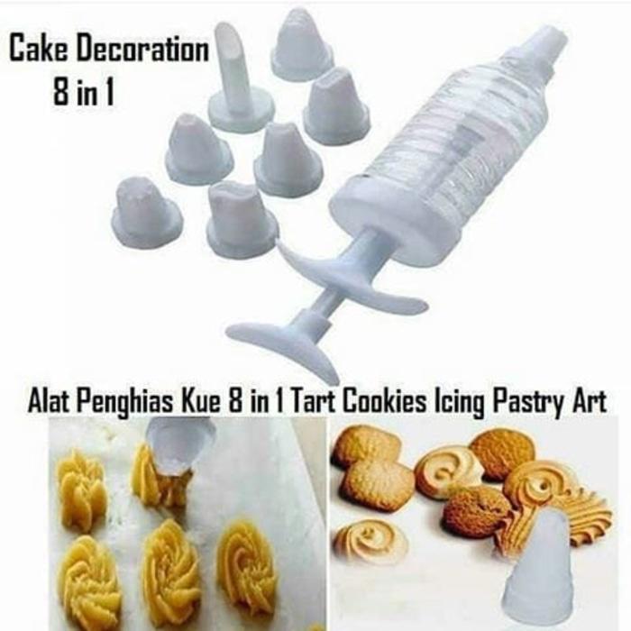 Cake Decoration 8 In 1 Set / alat hias kue tart ulang tahun / food maker / penghias cookies / penghias kue kering