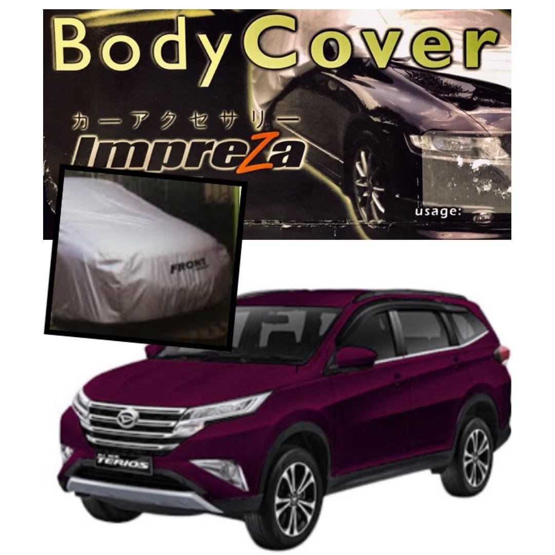 IMPREZA PREMIUM Body Cover  Daihatsu All New Terios / All New RUSH - Grey / Pelindung Mobil / Selimut Mobil / Sarung Mobil
