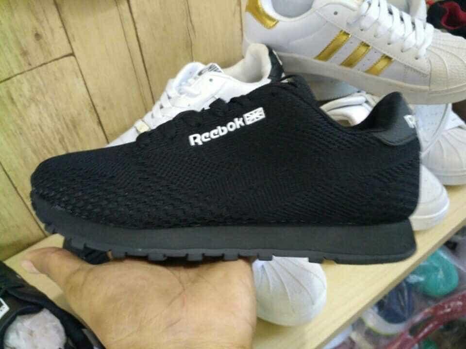 Sepatu Sport Running Reebok Full Black #Size 37-41 #Jogging #Dry bag