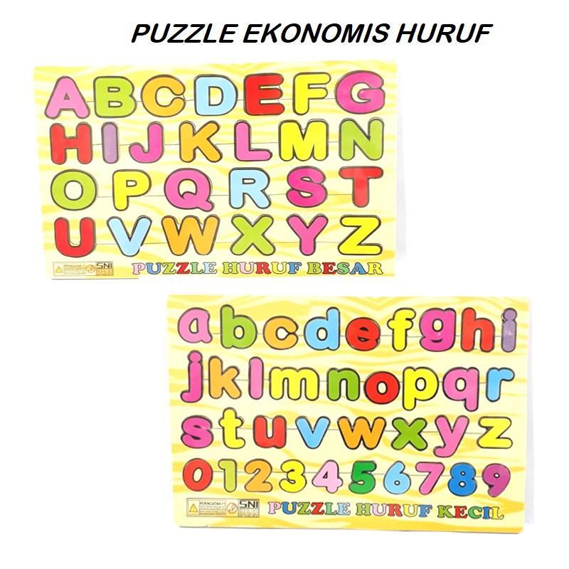 Kayla Org Mainan Edukasi Puzzle Ekonomis Huruf
