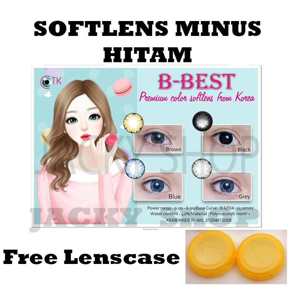 B-Best Softlens minus Hitam + GRATIS Lenscase