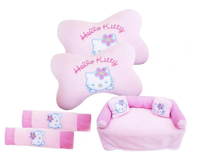 Bantal 3 In 1 Hello Kitty Mobil New Agya New Ayla 2017