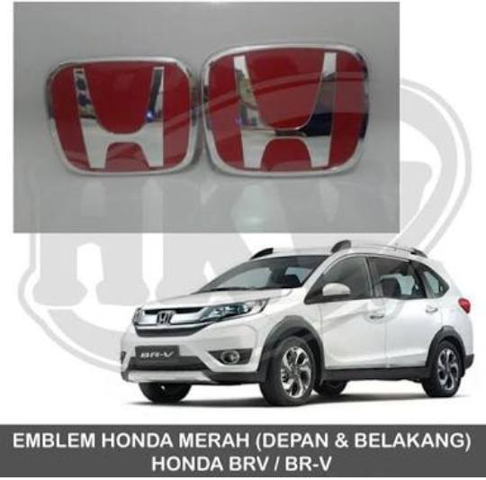 Setir Mobil Logo Honda Merah CRV BRV HRV BrioSatya Mobilio Jazz Civic Accord .