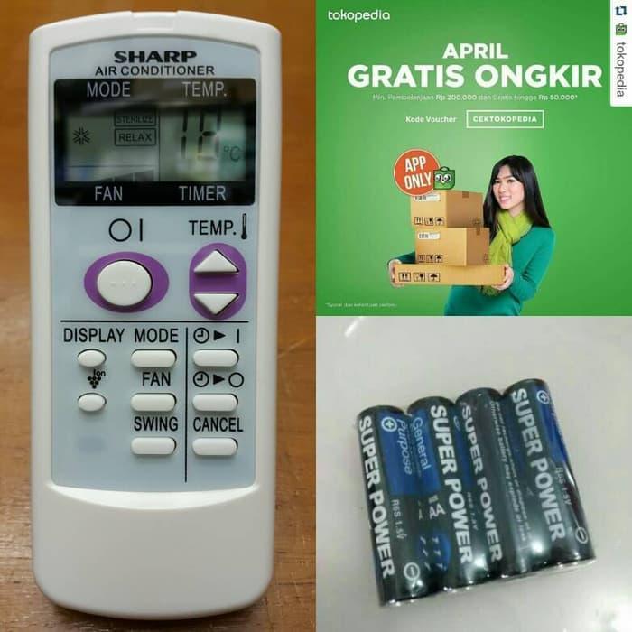 Sedang Diskon!! Remot Ac Sharp Cocok Untuk Segala Type Ac Sharp - ready stock