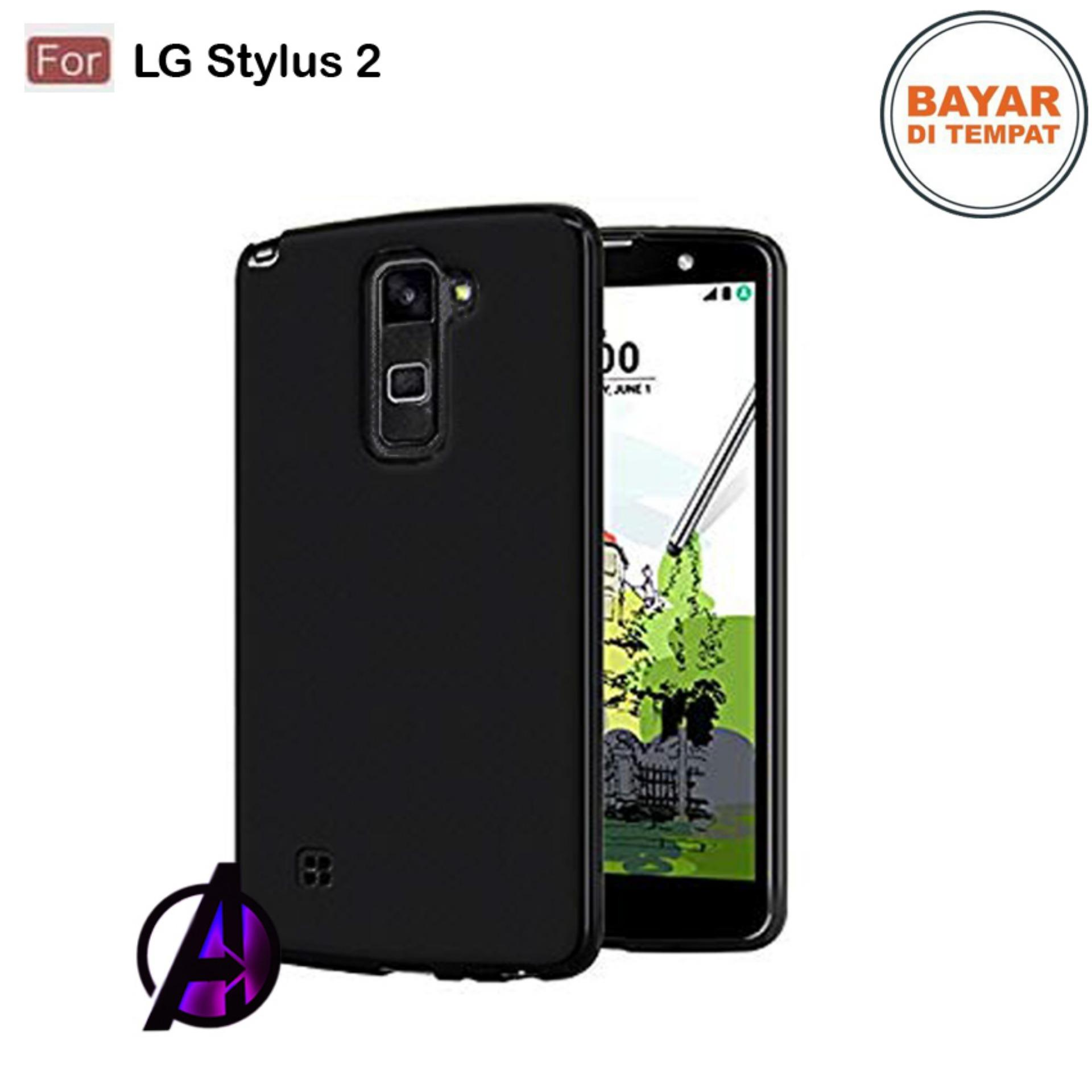 Case Matte Black Soft Slim Casing Handphone LG Stylus 2