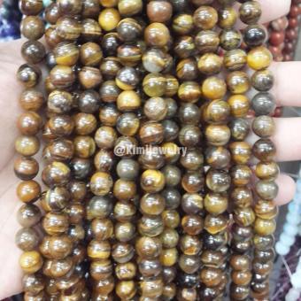 Harga Preferensial Tiger Eye Stone Bead 8mm Bahan Aksesoris Gelang