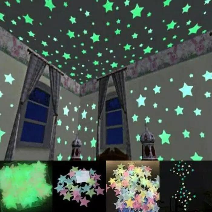 Stiker Bintang Dinding Glow In The Dark *20 Pcs S10 By Pusat Grosir Mode.