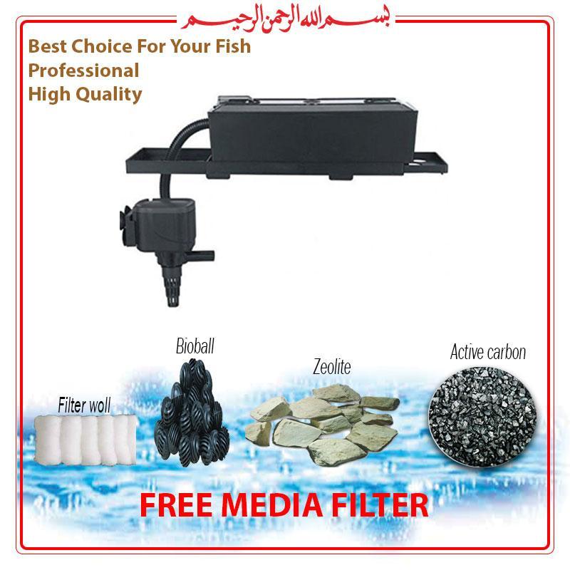 Top Filter / Filter Atas Aquarium Lengkap dengan Media Filter