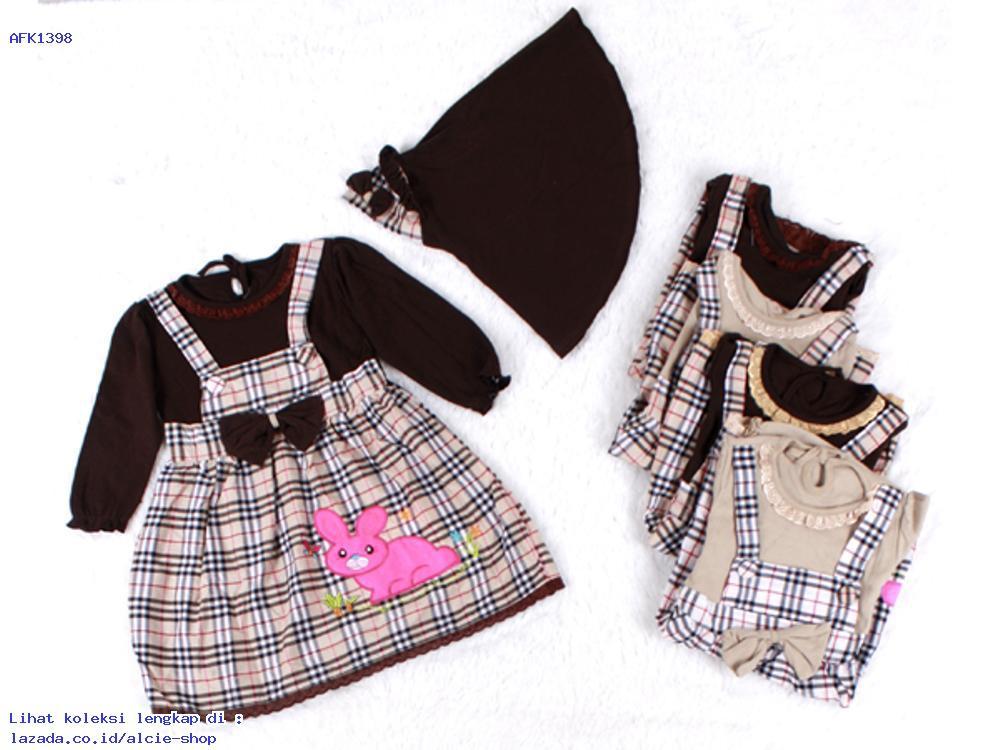 Baju Muslim Anak Perempuan Aplikasi Bordir Murah 1398 - AFK931571665