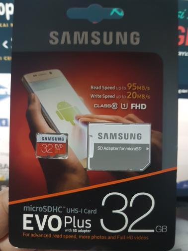 HOT DEALS!!  Samsung MicroSD Micro SD EVO Plus Class 10 UHS-1 80MB/s) 32GB 32 GB TERMURAH / MURAH / PACKING RAPIH / PENGIRIMAN CEPAT