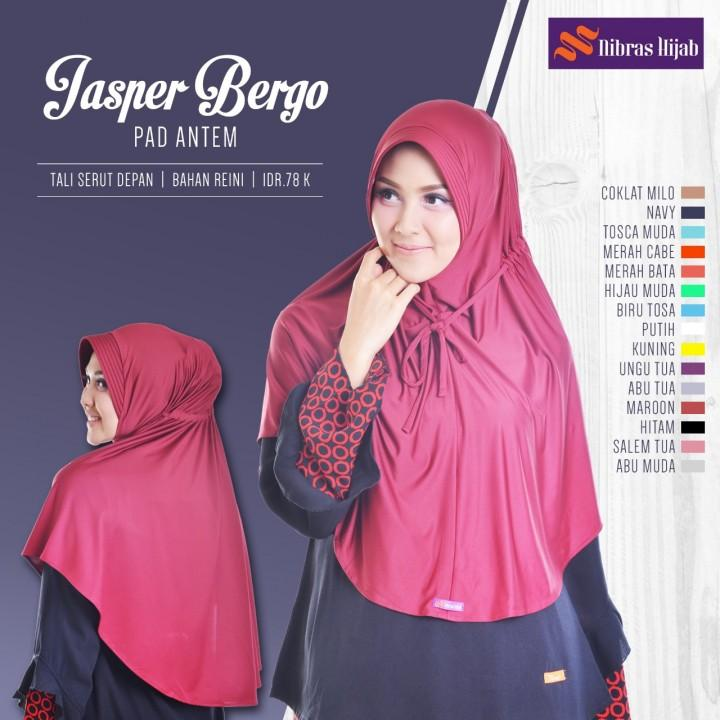 Jilbab Instan Jasper Bergo Pet Antem