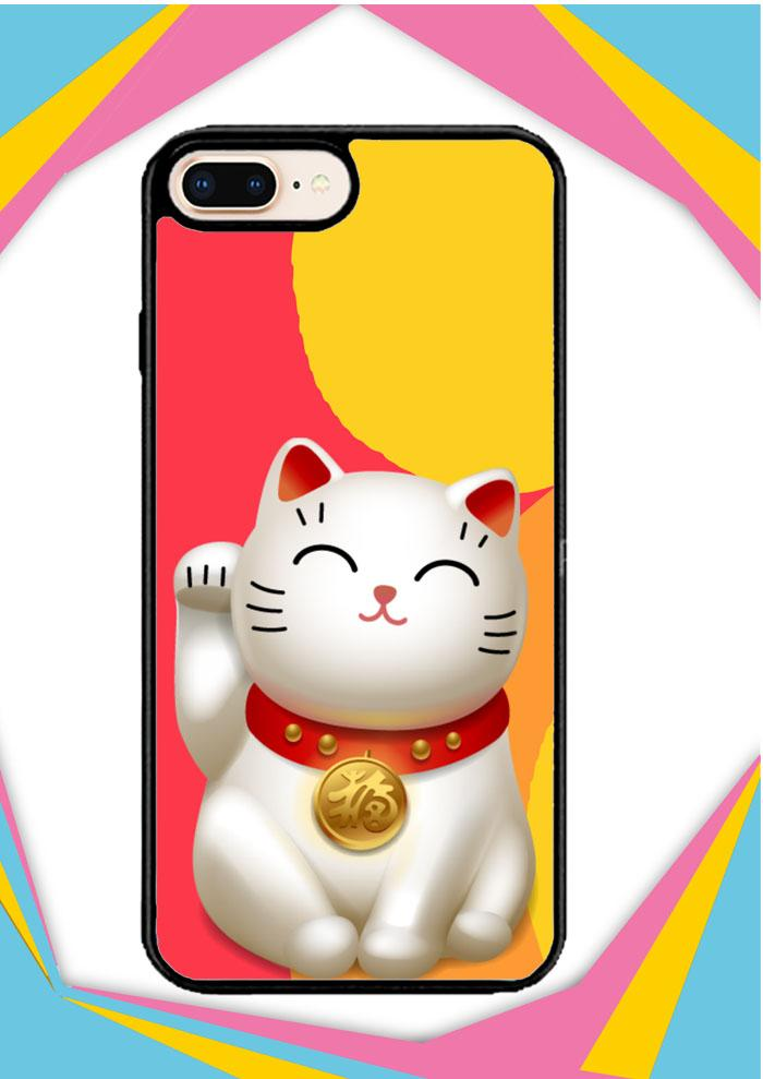 Casing iPhone 7 Plus Custom Hardcase lucky cat Z3371 Case Cover