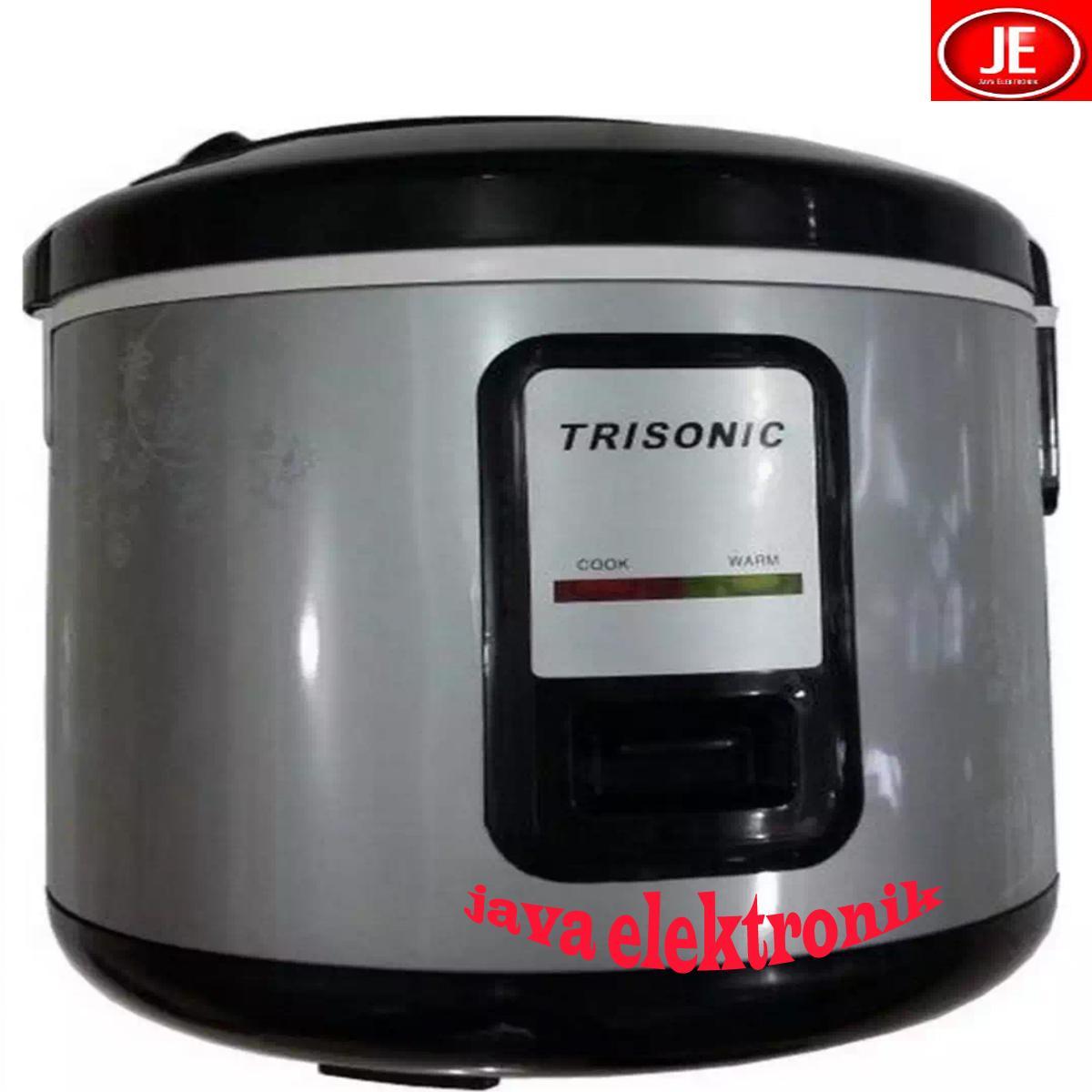 Trisonic T 707 N Rice Cooker - 1.2L - Silver GARANSI RESMI