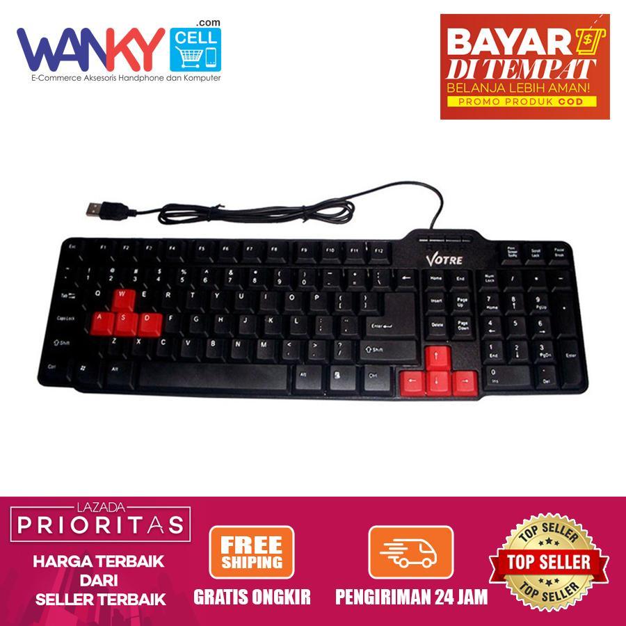 Votre Keyboard KB2308 Universal Gaming Standart For PC/Laptop/HP/Tablet - Hitam