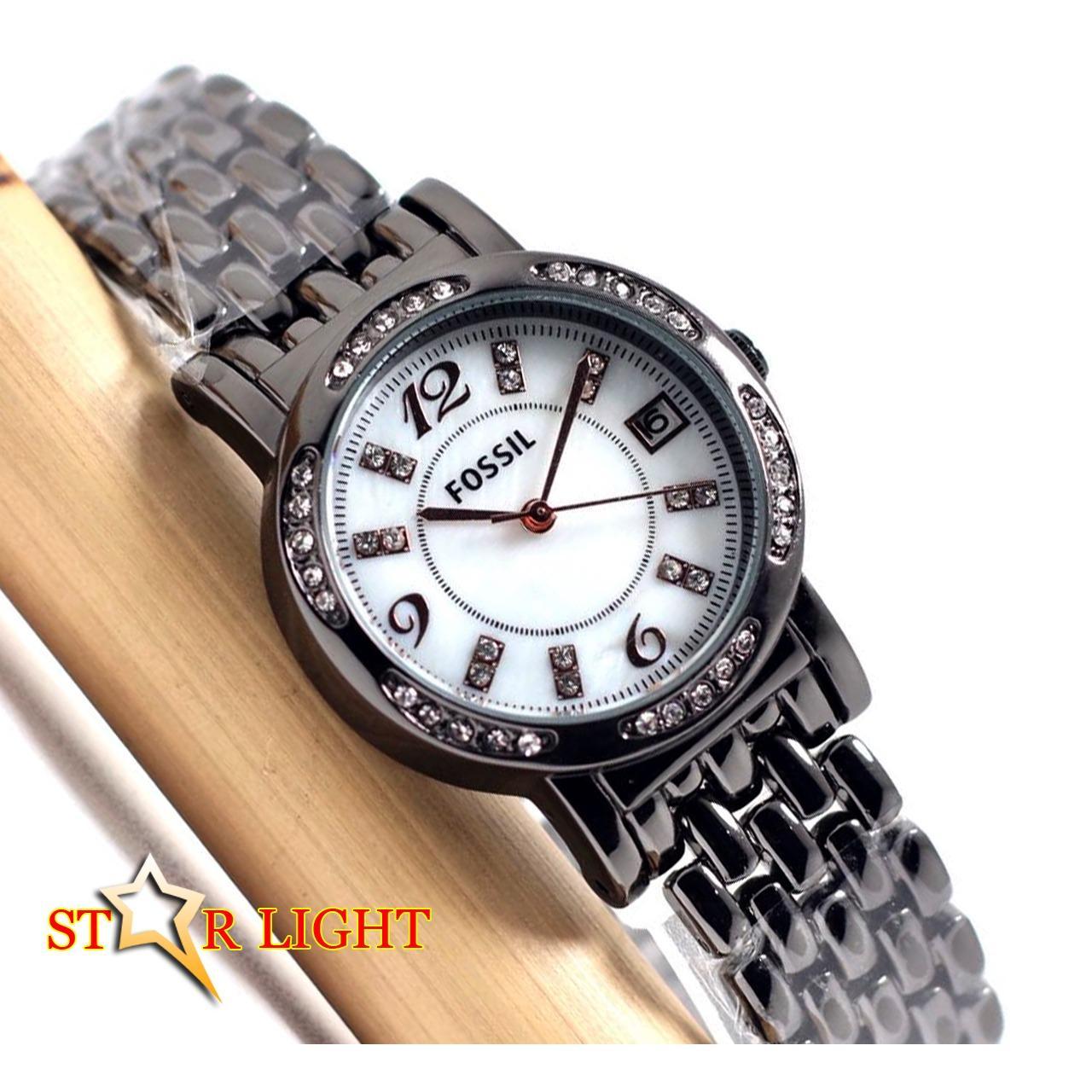 Jam Tangan Wanita - [ SWISS ARMY__FOSSIL__MIRAGE__TETONIS ] Stainless Steel Elegant & Fashionable _ Tanggal Aktif