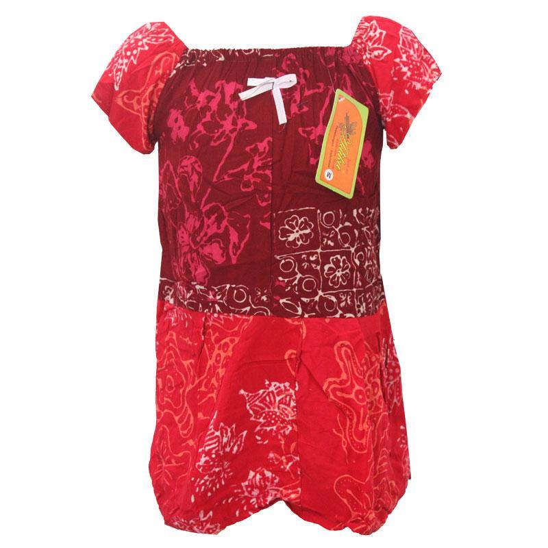 Daster Anak Batik, Piyama Anak, Baju Tidur Anak, Ukuran M Usia 6 Bulan - 2 Tahun (BKA002) Batik Alhadi