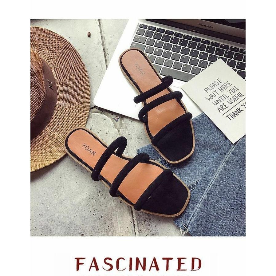 EZELL SHOP sandal flat wanita baru murah