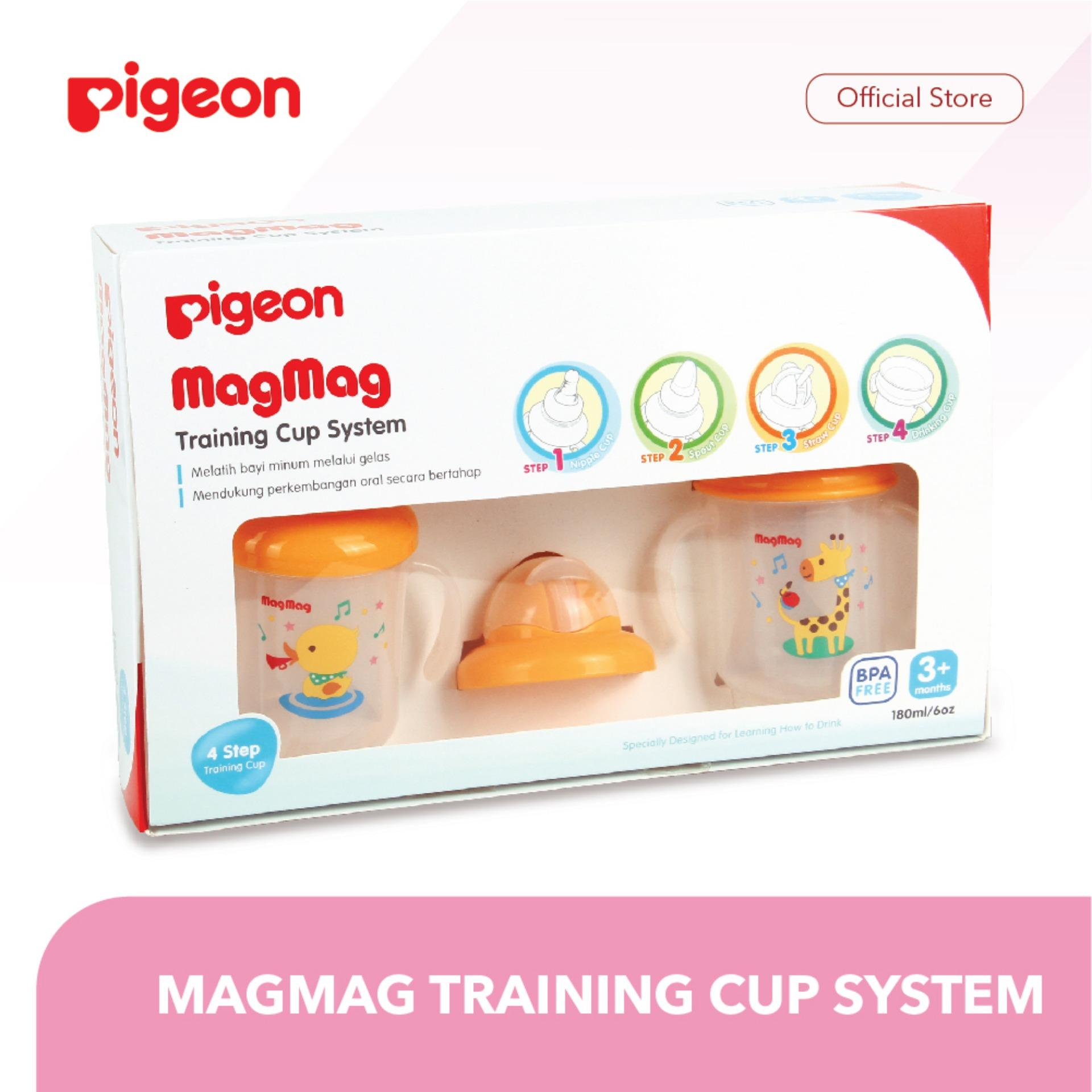 PIGEON Mag Mag Training Cup System / Cangkir Minum Bayi